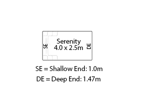 Serenity Fibreglass Pool Diagram