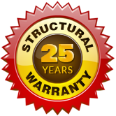 Inground pools with 25 year structural warranty