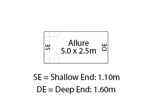 Allure Fibreglass Pool Diagram