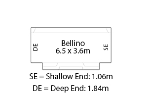 Bellino Fibreglass Pool Diagram