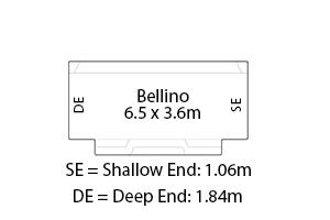 Bellino Fibreglass Pool Diagram