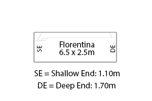Florentina Fibreglass Pool Diagram