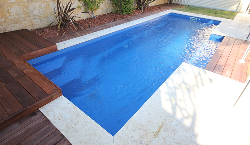 Fully installed fibreglass pools