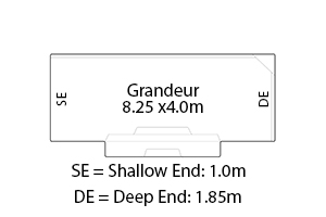 Grandeur Fibreglass Pool Diagram