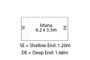 Istana Fibreglass Pool Diagram
