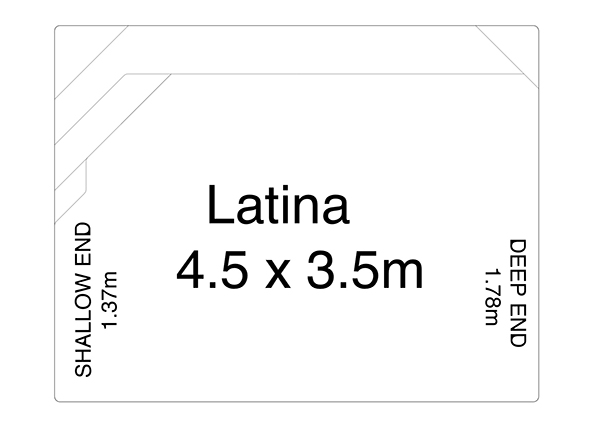 Latina Fibreglass Pool Diagram