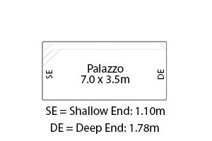 Palazzo Fibreglass Pool Diagram
