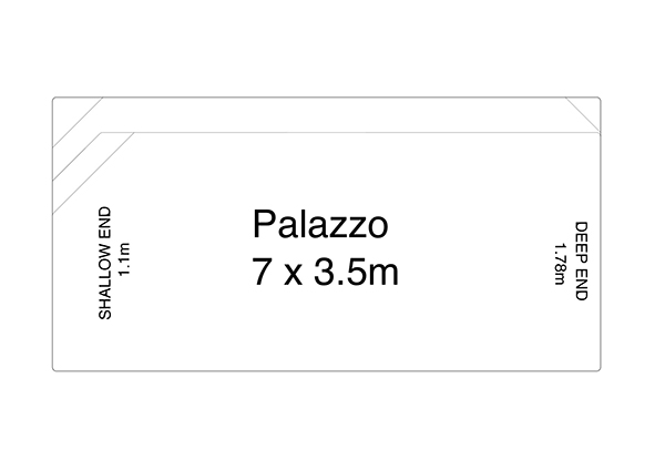 Palazzo Fibreglass Pool Diagram