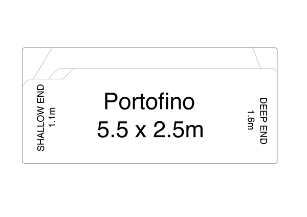 Portofino Fibreglass Pool Diagram