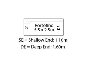 Portofino Fibreglass Pool Diagram