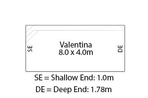 Valentina Fibreglass Pool Diagram