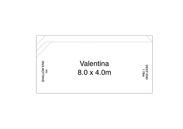 Valentina Fibreglass Pool Diagram