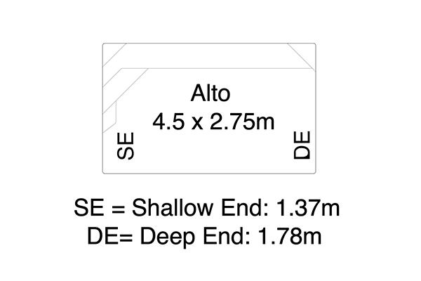 Alto Fibreglass Pool Diagram