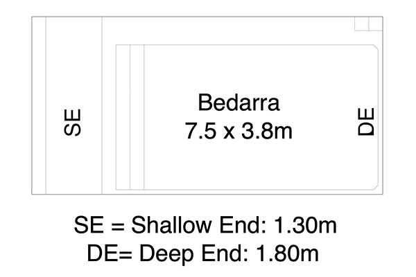 Bedarra Fibreglass Pool Diagram