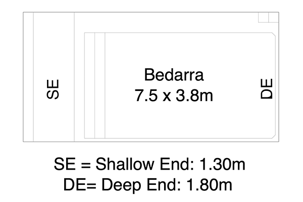 Bedarra Fibreglass Pool Diagram