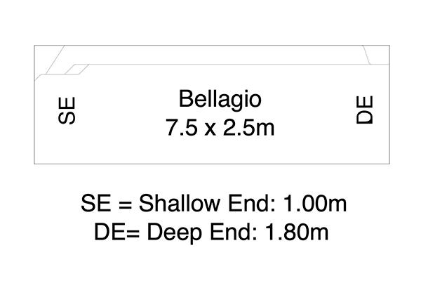 Bellagio Fibreglass Pool Diagram