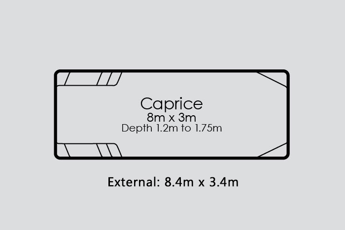 Caprice Fibreglass Pool Diagram
