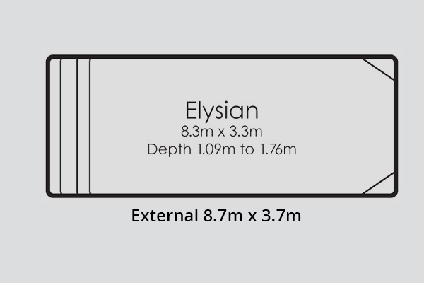 Elysian Fibreglass Pool Diagram