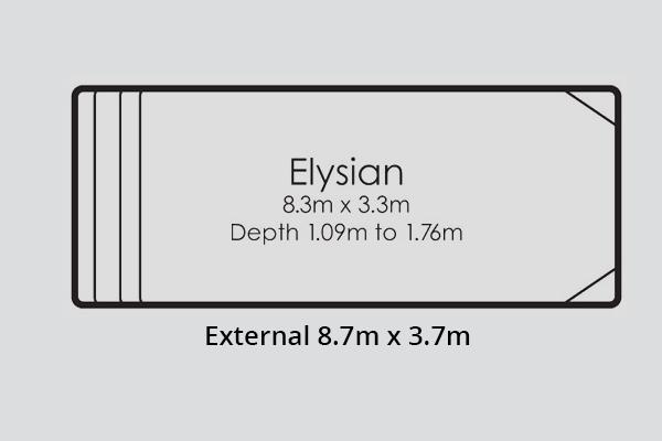 Elysian Fibreglass Pool Diagram