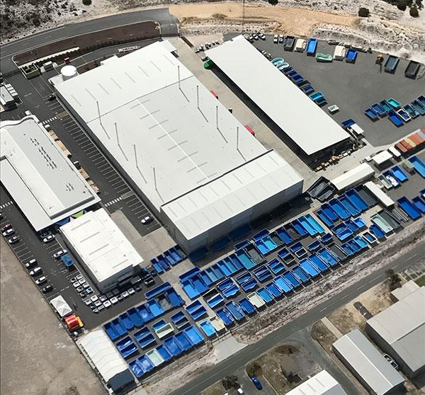 Fibreglass Pool Manufacturing Facility Aerial