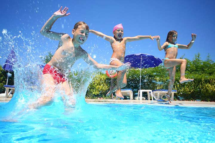 Kids Active in Fibreglass Pools