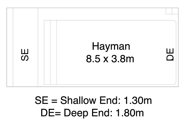 Hayman Fibreglass Pool Diagram