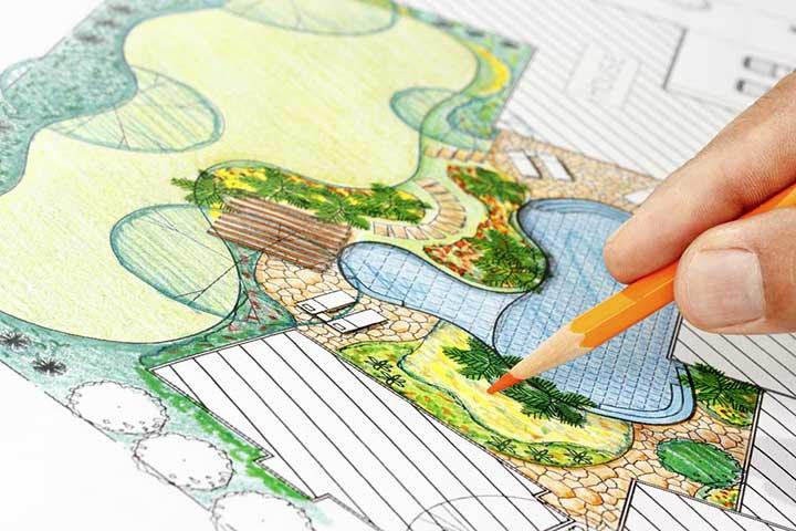 landscaping fibreglass pools