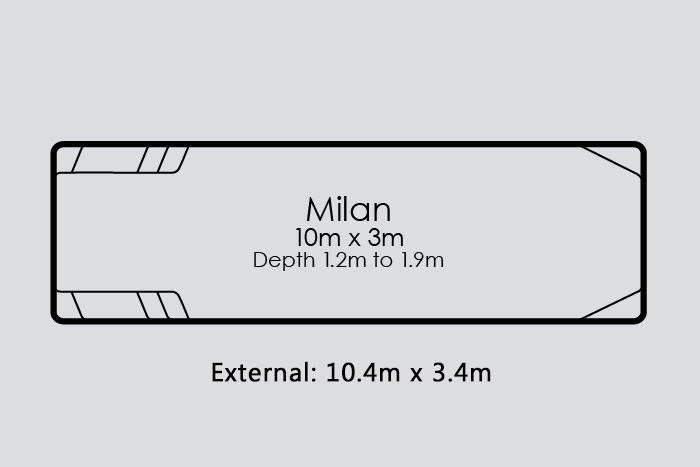 Milan Fibreglass Pool Diagram