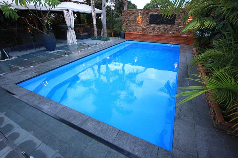 stone edged pool