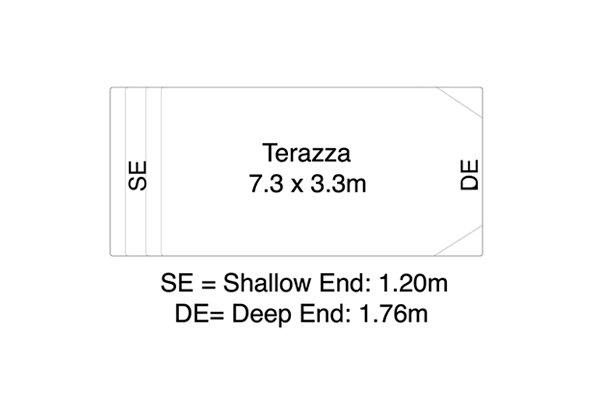 Terazza Fibreglass Pool Diagram