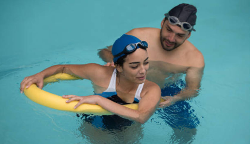 Water Therapy In Fibreglass Pool