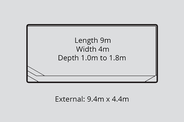 Westminster Fibreglass Pool Diagram